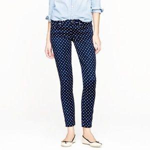 J Crew toothpick dot skinny jeans